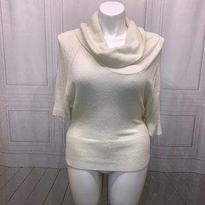 Express Design Studio Cowl Neck White Sweater S
